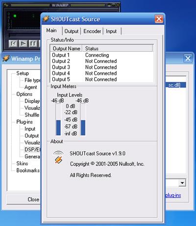 Configuração do SHOUTcast