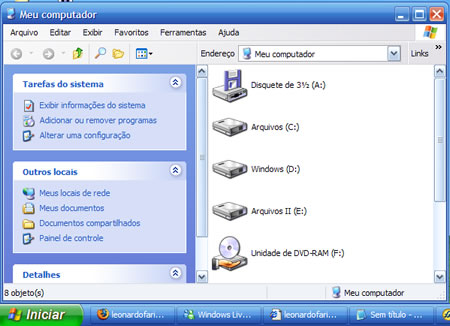 Windows Media Center em ação