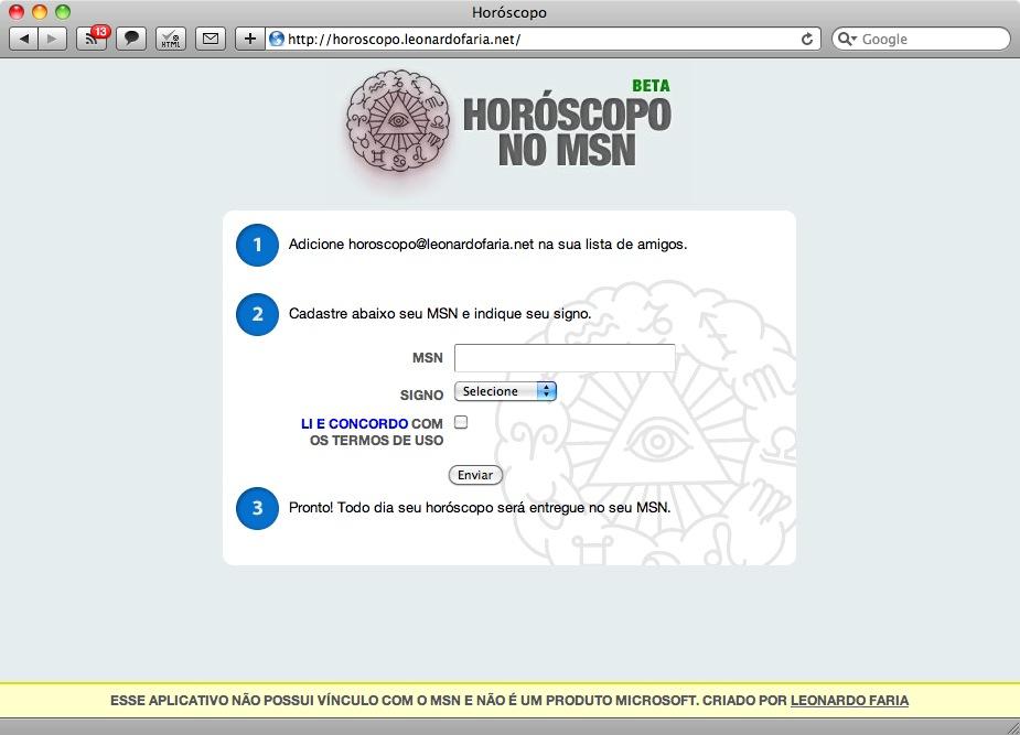 Horóscopo no MSN